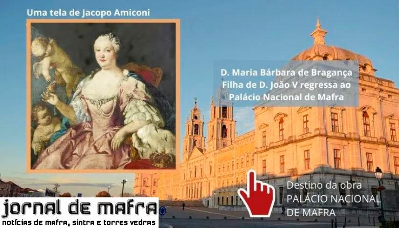 Infanta Maria barbara regressa ao palacio de mafra